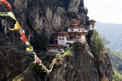 Plakát Taktshang Goemba, Tygří hnízdo klášter v Bhútánu