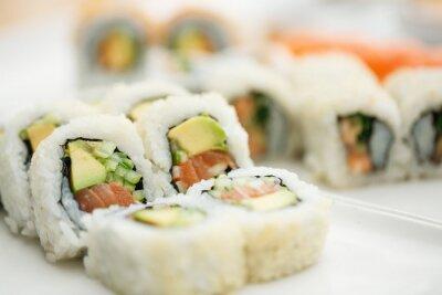 Plakát Talíř sushi s hůlkami