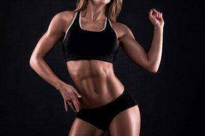 Plakát Tělo fitness dívka