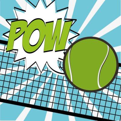 Plakát tenis sportovní design