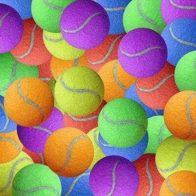 Plakát tenisový míček jako sportovní zázemí