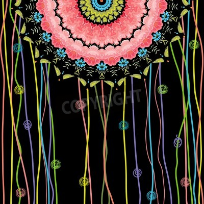 Plakát texture mandala designu