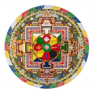 Plakát Tibetská mandala