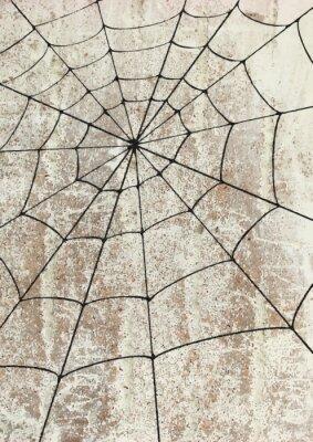 Plakát Toile surd'araignée un mur. pouliční umění