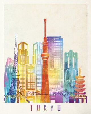 Plakát Tokio - akvarely plakátu