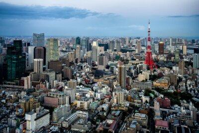 Plakát Tokio výhled na město