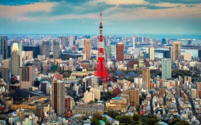 Plakát Tokio Výhled na město vidět na obzoru