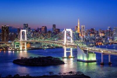 Plakát Tokyo Duhový most und Tokyo Tower