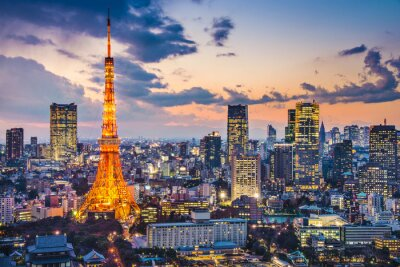 Plakát Tokyo, Japan na Tokyo Tower