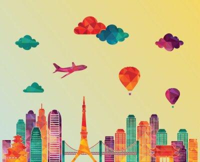 Plakát Tokyo panorama. vektorové ilustrace