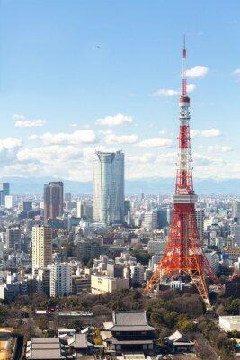 Plakát Tokyo Tower panoráma města