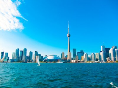 Plakát Toronto city skyline from the ferry travels to center island