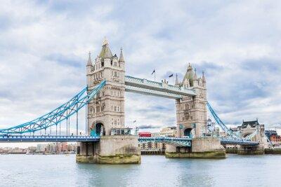 Plakát Tower Bridge v Londýně, UK