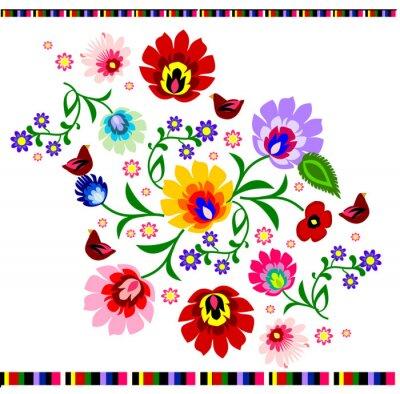 Plakát Tradiční polská květinový lidový vzor vektoru