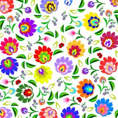 Plakát Tradiční polská lidová květinový vzor vektoru