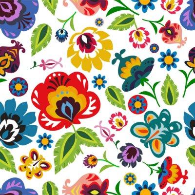 Plakát Tradiční polská lidová květinovým vzorem vector