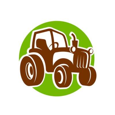 Plakát traktor fermer icon