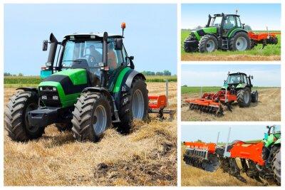 Plakát Traktor koláž