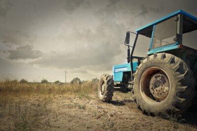 Plakát Traktor v přírodě
