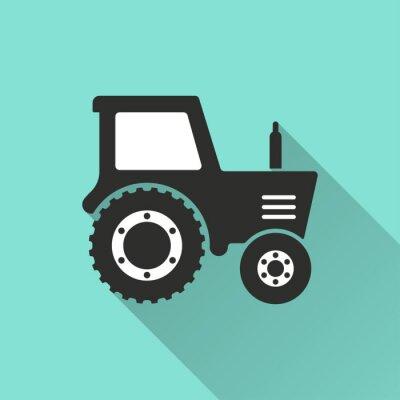 Plakát Traktor - vektor ikonu.