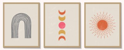 Plakát Trendy contemporary set of abstract geometric minimalist composition