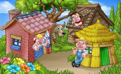 Plakát Tři malá prasata Pohádková scéna