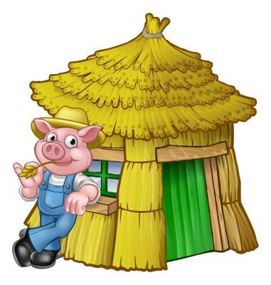 Plakát Tři malá prasata Pohádkový příběh Straw House