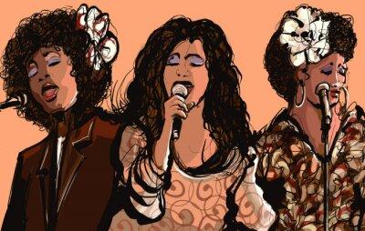 Plakát Tři ženy Jazzoví zpěváci