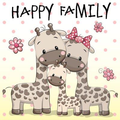 Plakát Tříčlennou rodinu Žirafy