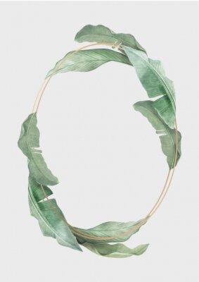 Plakát Tropical leaves frame
