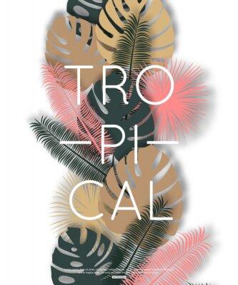 Plakát Tropický design pro banner, plakát. Vektorové ilustrace.