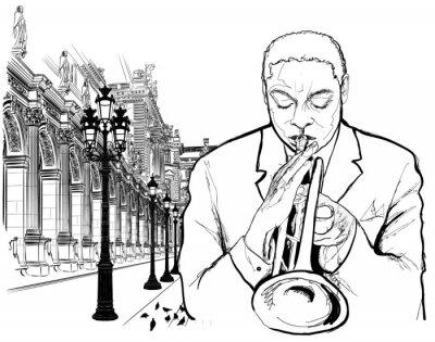 Plakát Trumpetista v Paříži