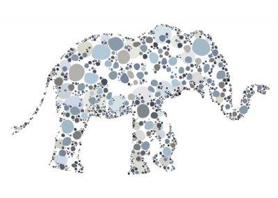 Plakát Tvůrčí ilustrace slona