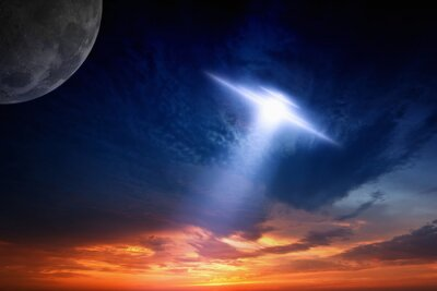 Plakát Ufo in sky