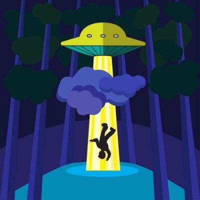 Plakát UFO unese člověka