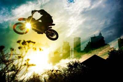 Plakát Urban Dirt Bike Jump
