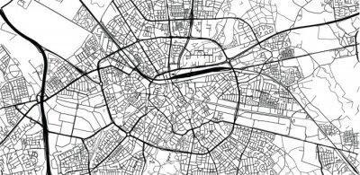 Plakát Urban vector city map of Eindhoven, The Netherlands
