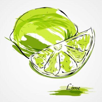 Plakát vápno ovoce