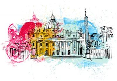 Plakát Vatikán Sketch