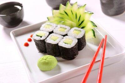 Plakát Vegan sushi