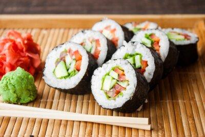 Plakát vegetariánská sushi rolka
