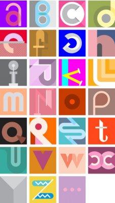 Plakát Vektor Abstract Font