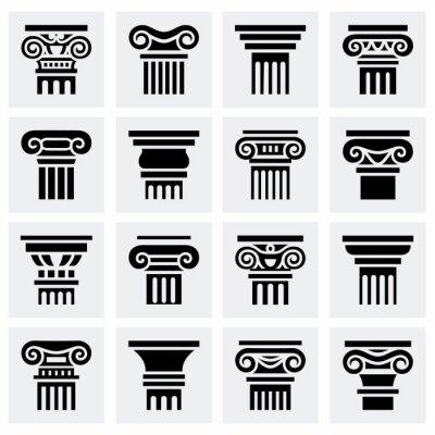 Plakát Vektor sady ikon Column
