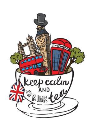 Plakát vektor velká británie