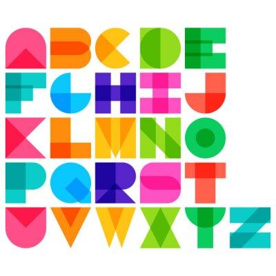 Plakát Vektorové ilustrace Barva písma