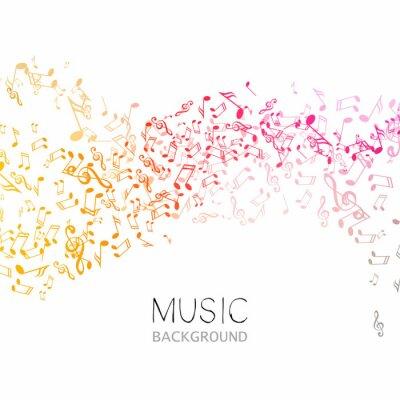 Plakát Vektorové ilustrace Pozadí abstraktní hudbu