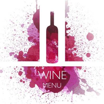 Plakát Vektorové ilustrace Wine šablony designu