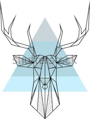 Plakát Vektorové pozadí abstraktní geometrické bederní s jeleny