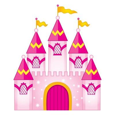 Plakát Vektorový kouzelný pohádkový hrad