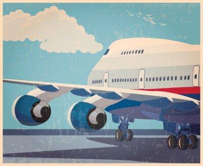 Plakát Velkou civilních letadel starý plakát